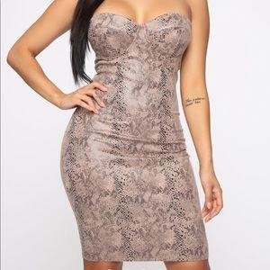 Fashion nova snake skin dress